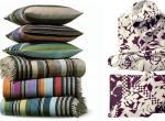 Для оригинальной стилизации дизайна интерьера предложен домашний текстиль