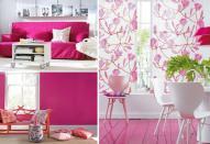 Розовый в интерьере помещений