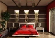 Декор спальни в японском стиле