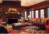 Интерьер деревянной гостиной