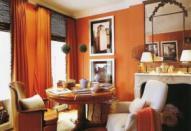 Оранжевый в интерьере помещений