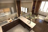 Оригинальный дизайн интерьера обустраиваем кухню-гостиную